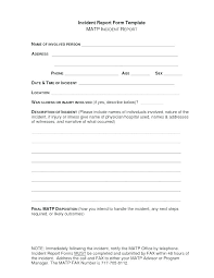 Hr Report Template Incident Investigation Form Plate Failure