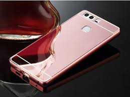 huawei p9 rose gold. aliexpress.com : buy for huawei p9 lite case mirror aluminum metal ultra slim acrylic back cover fundas cases 5.2 inch from rose gold