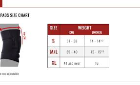 Nfinity Knee Pad Size Chart Size Chart Beauty Within Clinic