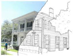 architecture house sketch. Interesting Sketch With Architecture House Sketch