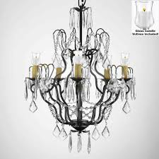 to enlarge 100 crystal wrought iron chandelier