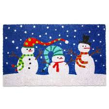 christmas door mats outdoor. Outdoor Christmas Decorations \u003e J\u0026M Home Fashions 30-Inch X 18-Inch Snowmen Door Mats T