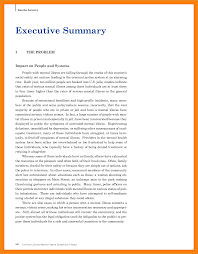 Example Executive Summary Art Resume Examples
