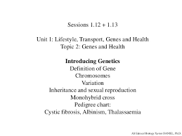 As Edexcel Biology Session 1 12 1 13 Introducing Genetics
