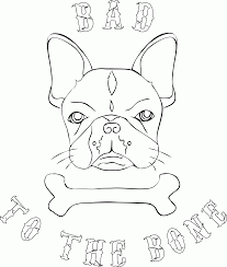 Small Picture Printable Bulldog Coloring Pages Coloring Home