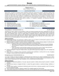Sample Career Objective For Business Analyst Resume Refrence