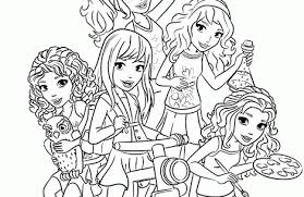 Small Picture lego friends coloring pages for girls Just Colorings