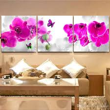 hot sell modern wall painting pink purple orchid flower home decoration art picture paint on canvas prints modern painting water painting flower painting  on purple orchid wall art with hot sell modern wall painting pink purple orchid flower home