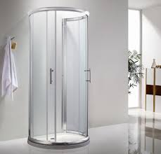 Compact Shower Stall Icon D Shaped Shower Enclosure 900mm X 770mm One Wall Shower