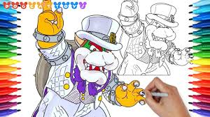 How To Draw Super Mario Odyssey Bowser 148 Drawing Coloring