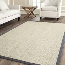 safavieh casual natural fiber marble and grey border sisal natural fiber rugs 8x10