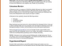 Literature Review Outline Template Apa Baskan Idai Co Research