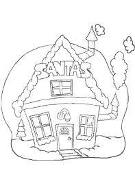 Kleurennu Het Huis Van De Kerstman Kleurplaten