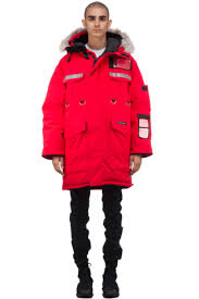 ... Resolute Parka fur-trimmed down coat mythere CANADA GOOSE HYBRIDGE LITE  JACKET Red WOMENS 2701L ...