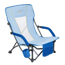 com wejoy compact low sling folding beach chair lightweight collapsible with cup