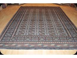 sold out 8 x 10 turkmen new rug gray blue thick wool