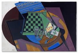 Juan Gris 'Checkerboard And Playing Cards' Canvas Art - Contemporary -  Prints And Posters - by Trademark Global