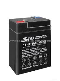 Charging Battery Light Selling High Performance 6v4ah Emergency Light Battery Sbb