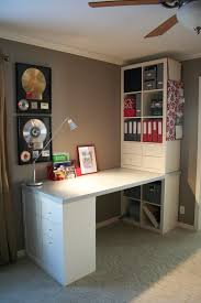 home office ikea expedit. Ikea Expedit Desk   Bookshelf Cube Desk. Cool Home Office