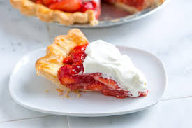 strawberry pie slice. Brilliant Pie Simple And Fresh Strawberry Pie Recipe On Slice H