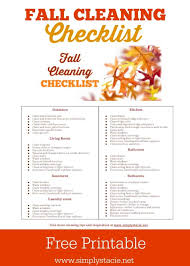 cleaning schedule printable fall cleaning schedule with free printable simply stacie