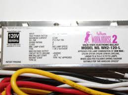 fulham workhorse 2 electronic instant start ballast 120v long fulham workhorse 2 electronic instant start ballast 120v long case wh2 120 l bulbs com