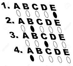 Multiple Choice Style Test Or Exam Vector