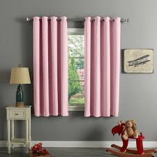 aurora home silver grommet top thermal insulated 63 inch blackout curtain panel pair 52