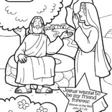 Small Picture Woman At The Well Coloring Page AZ Coloring Pages Coloring Page