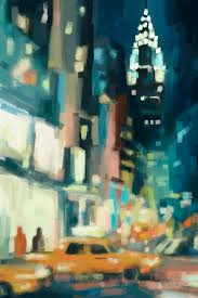 42nd street painting view across 42nd street new york city by beverly brown prints