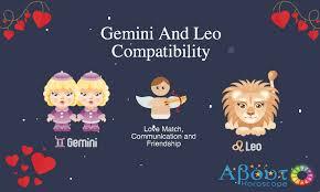 Leo Woman And Gemini Man Compatibility Chart