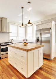 simple block white kitchen island with butcher block top umwdining com regard to islands prepare 14 throughout