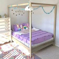 Full Size Canopy Bed Made in US