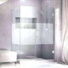 glass shower doors miami fl half wall no door in