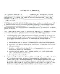 Standard Nda Agreement Template Free Standard Non Disclosure Agreement Template Mytv Pw