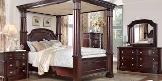 Dumont Cherry 6 Pc King Canopy Bedroom