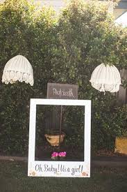 baby shower photo booth ideas a fabulous photo booth idea rustic themed baby shower via party