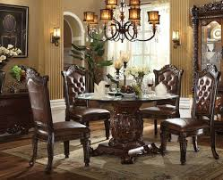 glass top round dining table set exclusive
