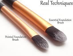 mac liquid foundation brush. review + comparison: real techniques brush collection mac liquid foundation s