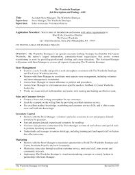 Restaurant Manager Resume Description Download Store Manager Job