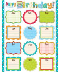 Classroom Decoration Charts For High School High School Birthday Charts For Classroom Decoration