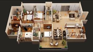 50 four 4 bedroom apartment house plans architecture design