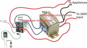 automatic voltage stabilizer for tv sets and refrigerator homemade 220V Motor Wiring Diagram stabilizer relay transformer wiring diagram