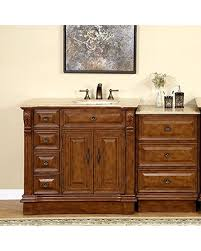 58 inch bathroom vanity. Silkroad Exclusive Right Side Off Center Sink Bathroom Vanity With Furniture Drawer Cabinet, 58- 58 Inch T