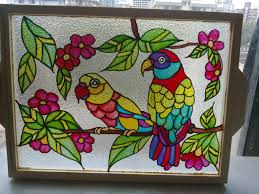 glass paintings designs beautiful hand painted