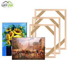 2019 diy wooden canvas frame for oil painting canvas print painting frames gallery stretcher bar decoration for home from isaaco 37 26 dhgate
