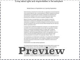 essay about rights and responsibilities in the workplace term  essay about rights and responsibilities in the workplace business admin notes section one rights