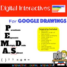 Digital Math Graphic Organizers Using Google Drawings