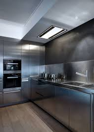 Stainless Steel Kitchen Everything About This Kitchen Is Stainless Steel Contemporist