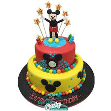 Mickey Mouse 3d Cake Egglesscakein Midnight Delivery In Noida
